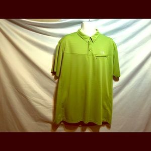 The North Face polo shirt lime green